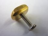 Finnenplättchen Messing + V2A-Schraube M4